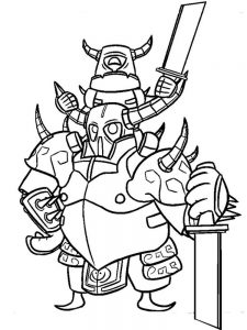 clash royale coloring pages free