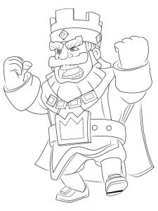clash royale coloring pages printable