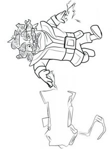 clash royale mega knight coloring pages