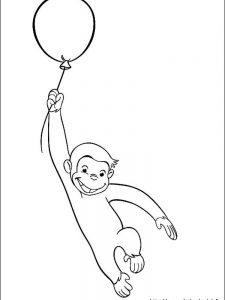 classic curious george coloring pages