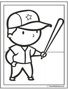 college baseball coloring pages