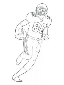 college football player coloring pages