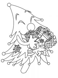 color by number christmas tree coloring pages