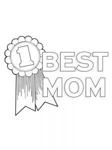 coloring book mothers day page