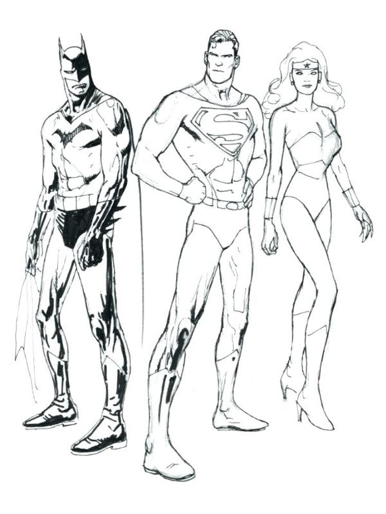 coloring book pages superman
