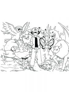coloring page anime pokemon