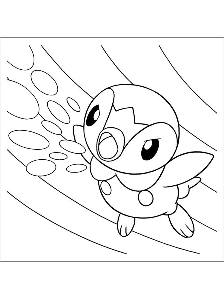 coloring page black and white pokemon