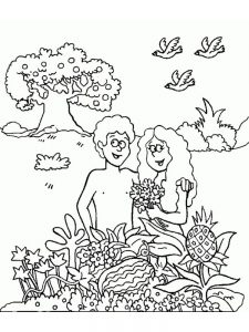 coloring page for adam and eve