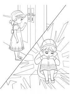 coloring page for frozen