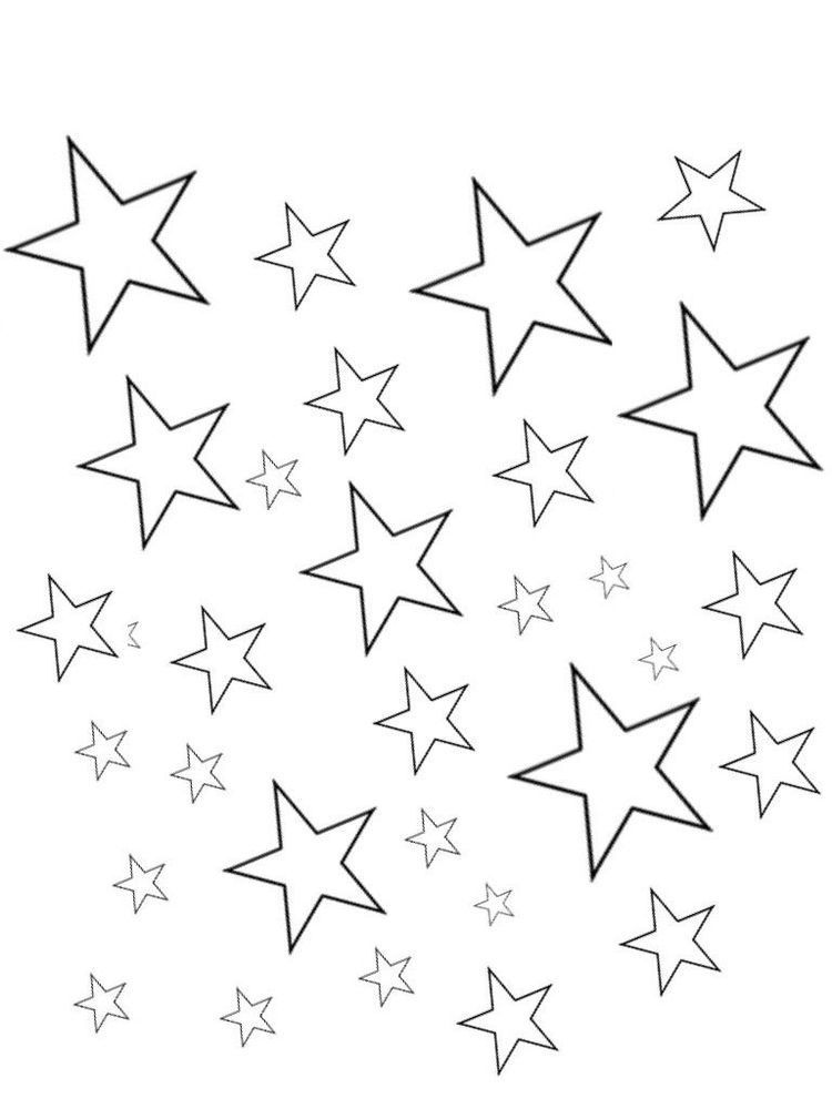 coloring page for stars