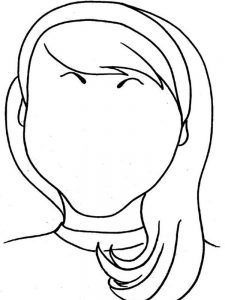 coloring page of a face