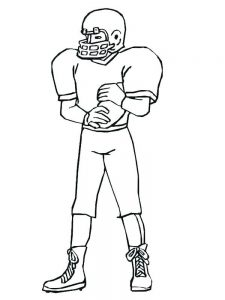 coloring page of a football player