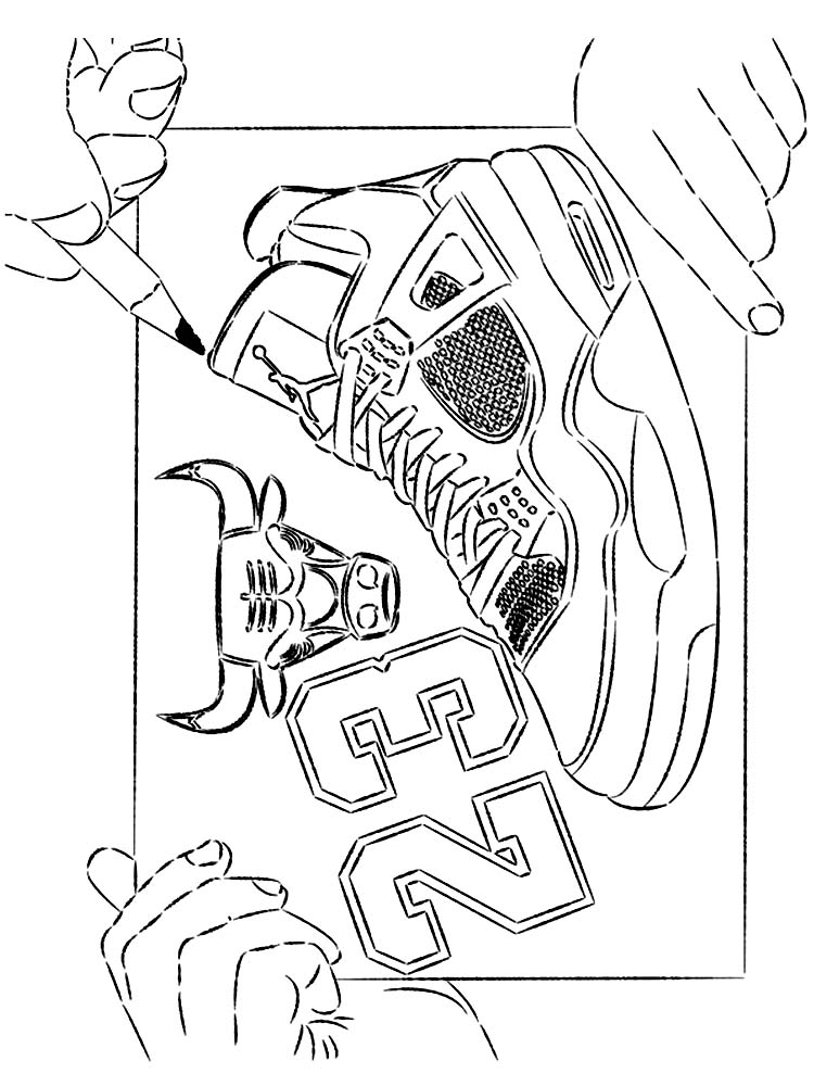 coloring page of basketball