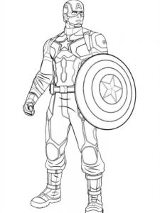 coloring page of captain america