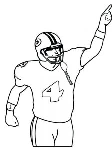 coloring page of football player