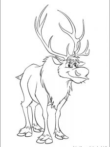coloring page of frozen