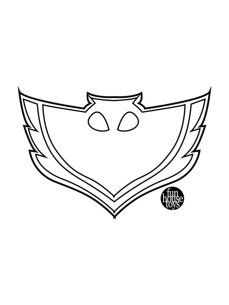 coloring page of pj mask