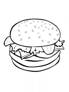 coloring pages about food