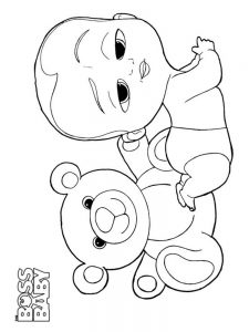 coloring pages baby pdf