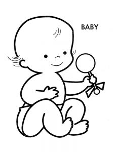 coloring pages baby picture