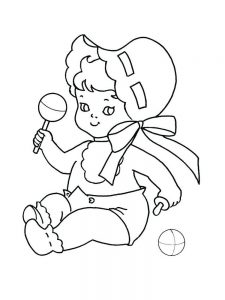 coloring pages baby print
