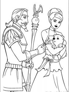 coloring pages barbie and friends