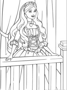 coloring pages barbie princess charm school