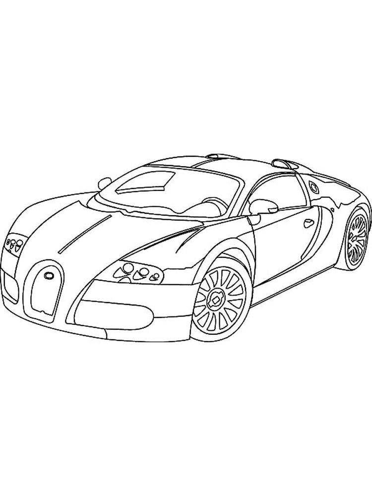 coloring pages cars bugatti