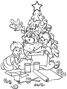 coloring pages christmas tree 029