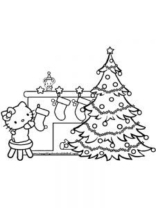 coloring pages christmas tree lights