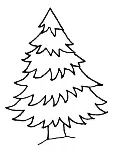 coloring pages christmas tree one