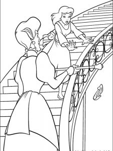 coloring pages cinderella mice