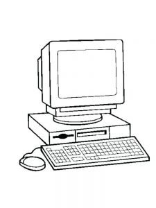 coloring pages computer