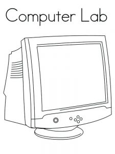 coloring pages computer technology