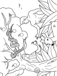 coloring pages for adam and eve
