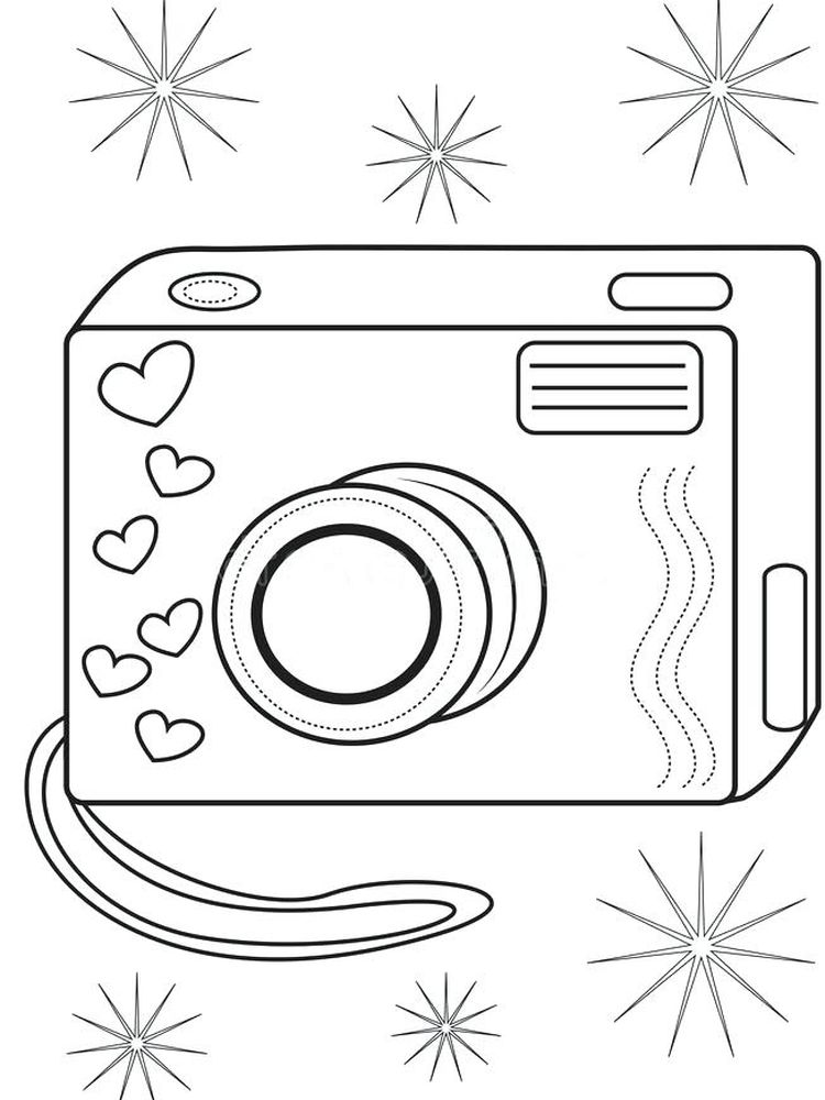 coloring pages for adults camera