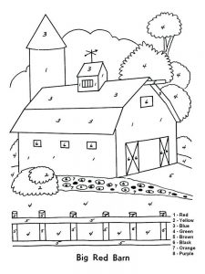 coloring pages for barn animals