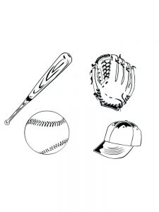 coloring pages for baseball