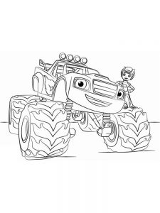 coloring pages for blaze and the monster machines