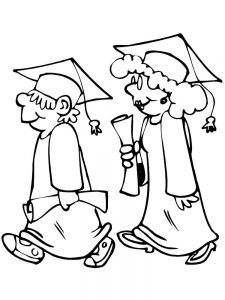 coloring pages for graduation day