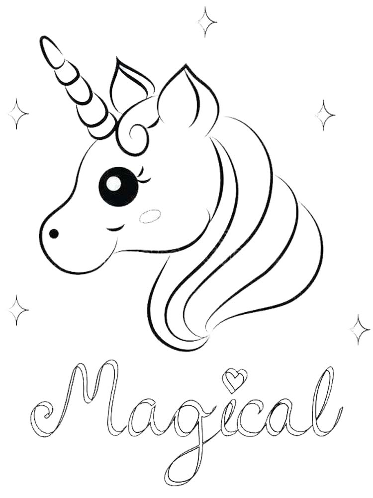 coloring pages for kids unicorn 010