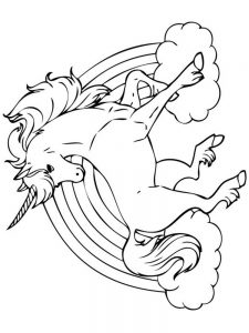 coloring pages for kids unicorn 034
