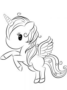 coloring pages for kids unicorn 048