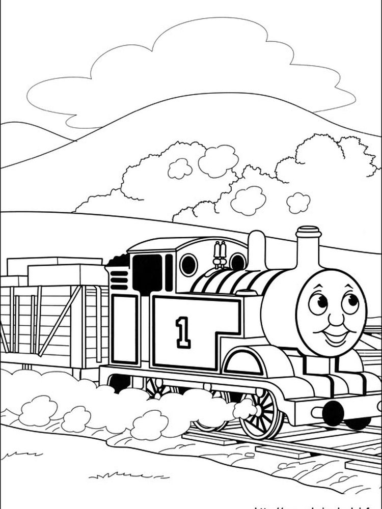 coloring pages for thomas the train