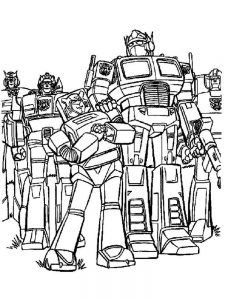coloring pages for transformers