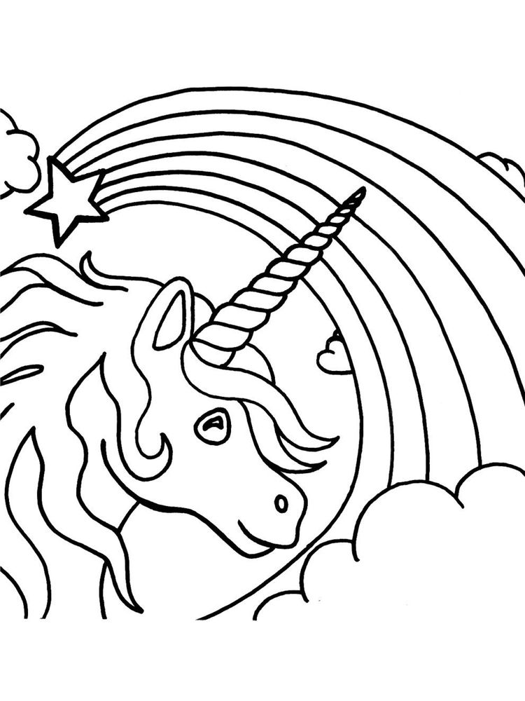 coloring pages free printable unicorn
