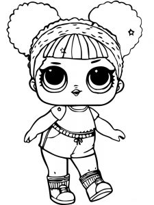 coloring pages lol dolls cutie