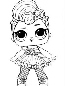 coloring pages lol dolls free