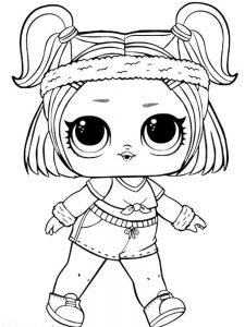 coloring pages lol dolls pet