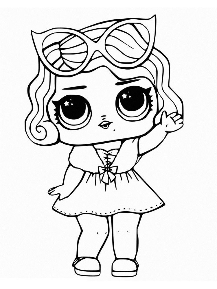 coloring pages lol dolls pets